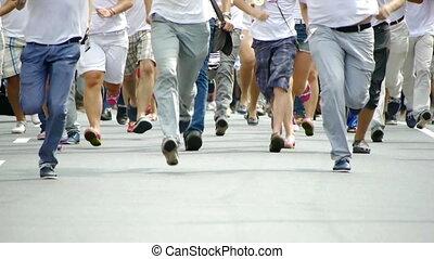 -, futás, hd, emberek