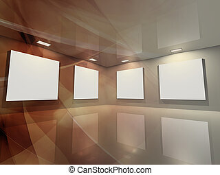 -, galerie, bronze, virtuel