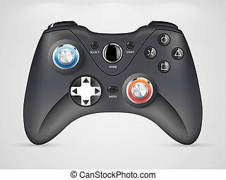 -, gamepad, regulador video del juego