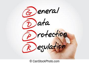 -, generale, gdpr, protezione, regolazione, dati
