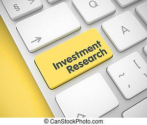 -, giallo, ricerca, investimento, key., tastiera, 3d., messaggio