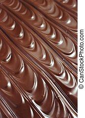 -, glaçage, fond, chocolat