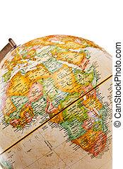 -, globe, afrique