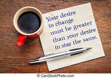 -, gloser, inspirational, ændring, din, begær