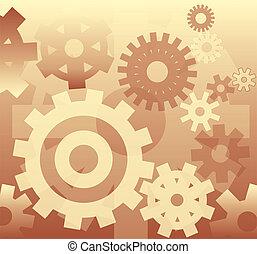 -, grafické pozadí, mechanismus