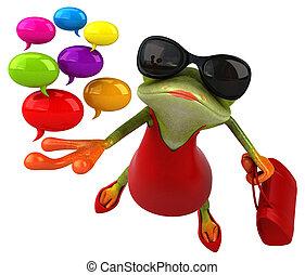 -, grenouille, illustration, amusement, 3d