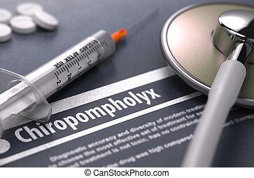 -, gris, arrière-plan., imprimé, diagnostic, chiropompholyx