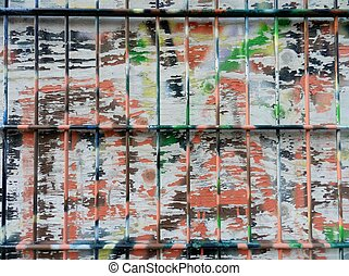 --Grunge wooden surface with old paint