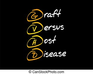 -, gvhd, graft-versus-host, enfermedad, siglas