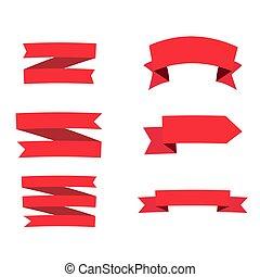 -, gyeplő, set., fehér, vektor, alapismeretek, piros, tervezés, háttér., elszigetelt