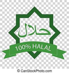 -, halal, segno