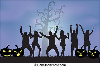 -halloween, feestje