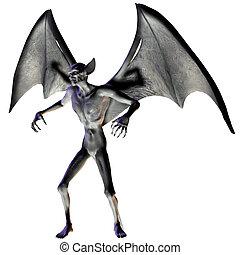 -, halloween, vampyr, figur