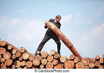 -hardworking, metáfora, homem negócio