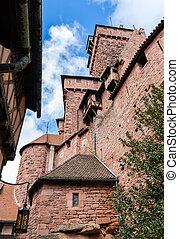 -, haut-koenigsbourg, frankreich, elsaß, chateau, du