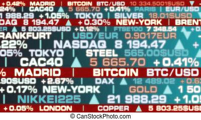 -, hell, stock market, index, echte , lichter, farben,...