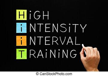 -, hiit, intervalo, intensidad, entrenamiento, alto