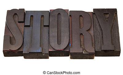-, histoire, mot, letterpress, type