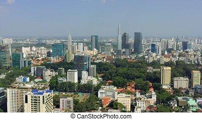 -, hochiminh., hochiminh, otro, vietnam, aéreo, rascacielos, zángano, moderno, abril, céntrico, vista, edificios, 2020: