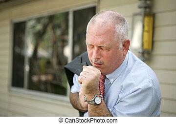 -, hombre, gripe, maduro, estación