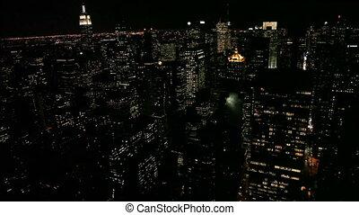 -, horizon, ville, panoramique, york, nouveau