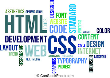 -, html, 単語, css, 雲