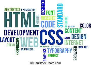 -, html, parola, css, nuvola