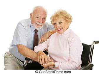 -, idősebb ember, alkalmatlanság, párosít
