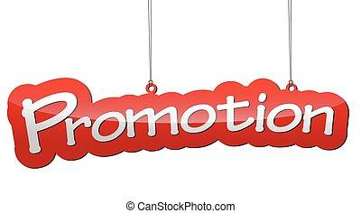 -, illustratie, vector, achtergrond, bevordering, label, rood