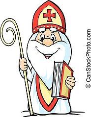 -, illustratio, vecteur, nicolas, saint