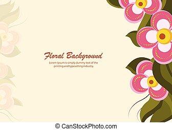 -, illustration, vecteur, fond, bannière florale