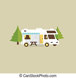 Campground Clip Art And Stock Illustrations 795 EPS