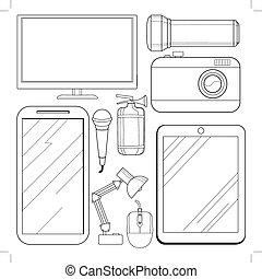 Electronics Vector Clipart EPS Images 224185 Clip
