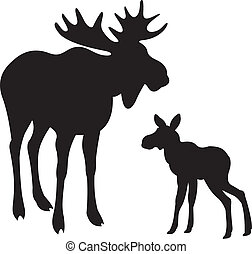 moose stock illustrations 4 620 moose clip art images and royalty rh canstockphoto com Moose Silhouette Clip Art cartoon moose images clipart