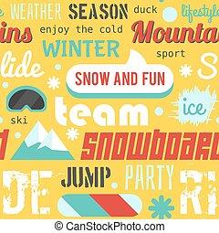 Snowboarden und skifahren lustige free fahrer jump fun
