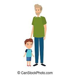 Junge Farbige Und Alter Mann