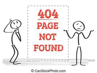 -, illustrazione, 404, non, fondare, pagina