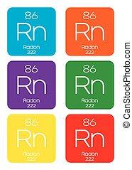 -, illustrazione, radon, informativo, periodico, elemento