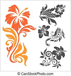 -, ilustração, experiência., vetorial, femininas, floral,...