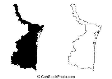 Ciudad Victoria Tamaulipas México Mapa Vectorial