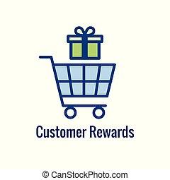 -, image, récompense, icône, client, escompte, récompenses, argent, /, concept
