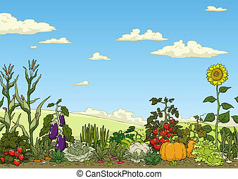 vegetable garden - Garden Clipart