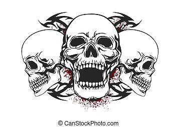 skull illustrations and clip art 79 559 skull royalty free rh canstockphoto com clipart skull wih sword clipart skull music