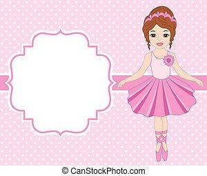 Tarjeta De Invitación Al Ballet Con Bailarina