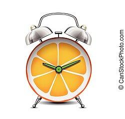 -, immunity, ciało, owoc, witamina, czas, cytrus, c, zegar, ...