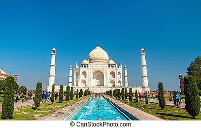 -, india., ほとんど, 有名, 記念碑, mahal, taj, pradesh, agra, uttar