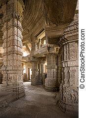-, india, gwalior, hindú, teli-ka-mandar, templo