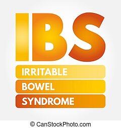 -, intestin, acronyme, syndrome, ibs, irritable