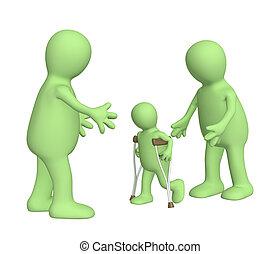 -, invalido, famiglia, bambino