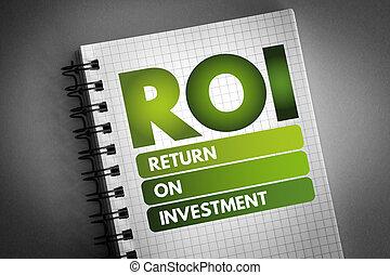 -, investering, retur, akronym, roi